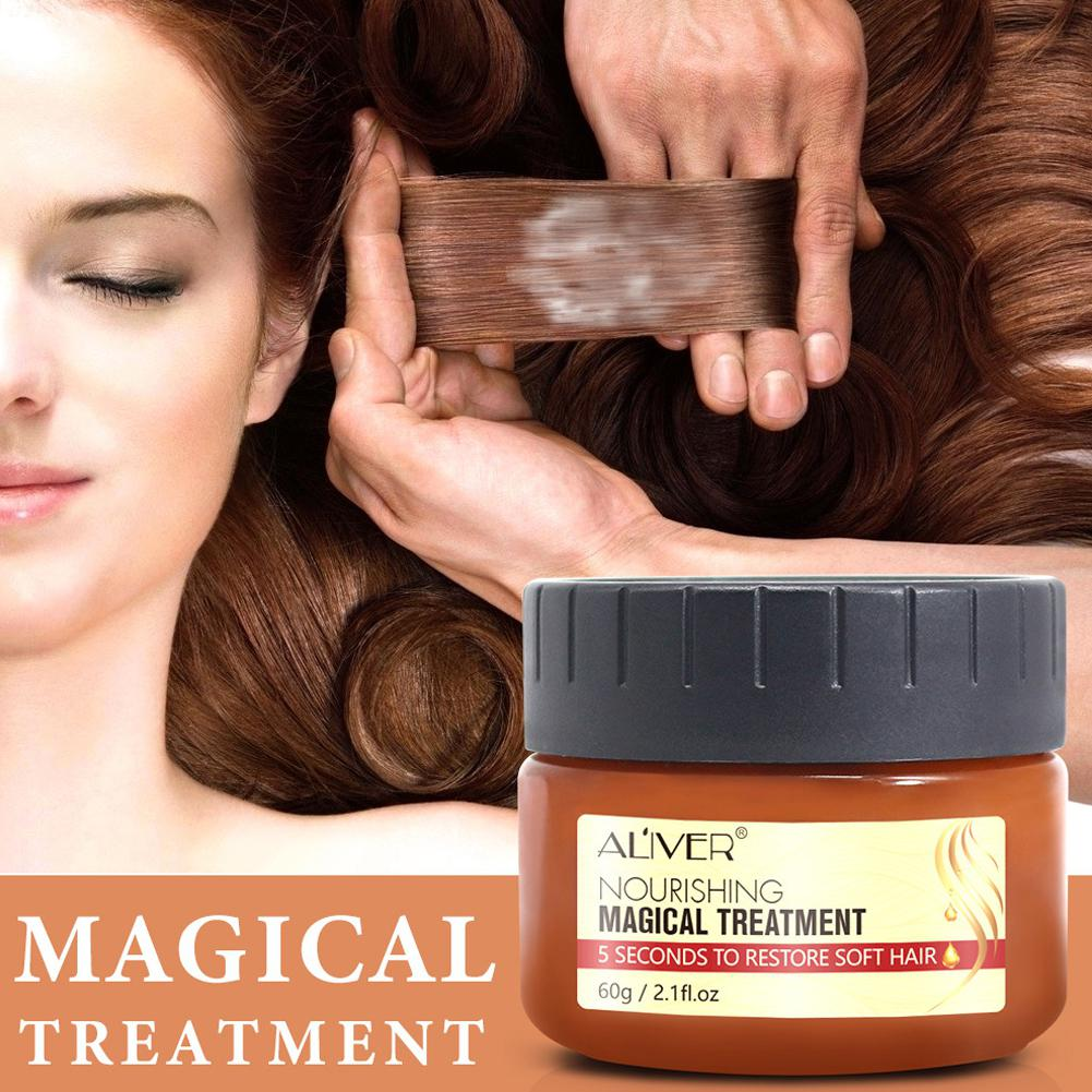XY Fancy Hair Conditioner for Damaged Dry Curly or Frizzy Hair Repairs Hair Root Magical Mask 5 Second Repairs Damage Hair Root image