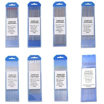 Welding Tungsten Electrodes Rods 1.0/ 1.6/ 2.0/ 2.4/ 3.0/ 3.2mm for TIG Welding Rods Pack of 10pcs welding tungsten electrodes 1kg pack thyssen 718 of 0 8mm tig welding wires