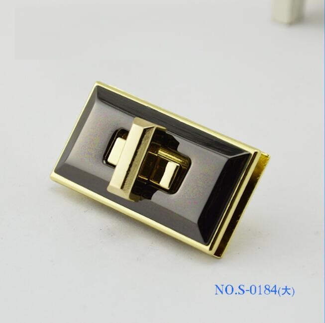 (10 Pcs/lot) Luggage Handbag Hardware Accessories High-grade Leather Bag Custom Two-color Twist Lock