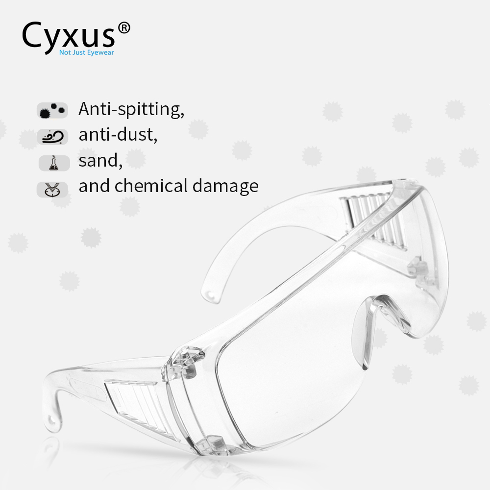Protective Goggles Fit Over Glasse Anti Virus  Saliva  Anti-Dust&Shock Safety Glasses Transparent Eyepiece Eye Protection 9001
