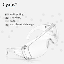 Protective Goggles Fit over Glasse Anti Virus Saliva Anti-Dust&Shock Safety Glasses Transparent Eyepiece Eye Protection 9001(China)