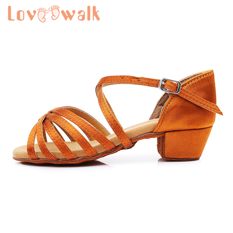Baby Girl Sandals Low Heel Kids Girl Dance Shoes Soft Leather Children Sandals Women Professional Dance Shoes For Latin Cha Cha