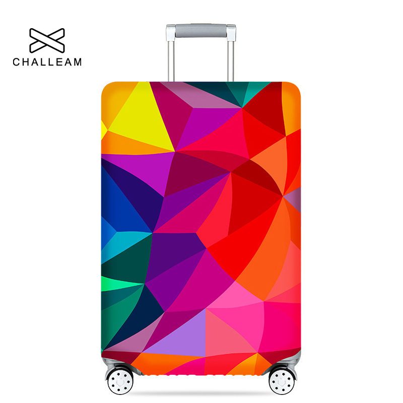 3D Funny Dressed Alphabet Print Luggage Protector Travel Luggage Cover Trolley Case Protective Cover Fits 18-32 Inch