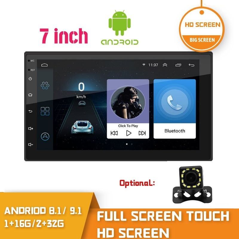 2 Din 2.5D Touch Screen Android Car Radio GPS Car Audio WiFi DVD MP5 2din Android FM Setero Receiver  2 Din Multimedia Player|Car Radios|   - AliExpress