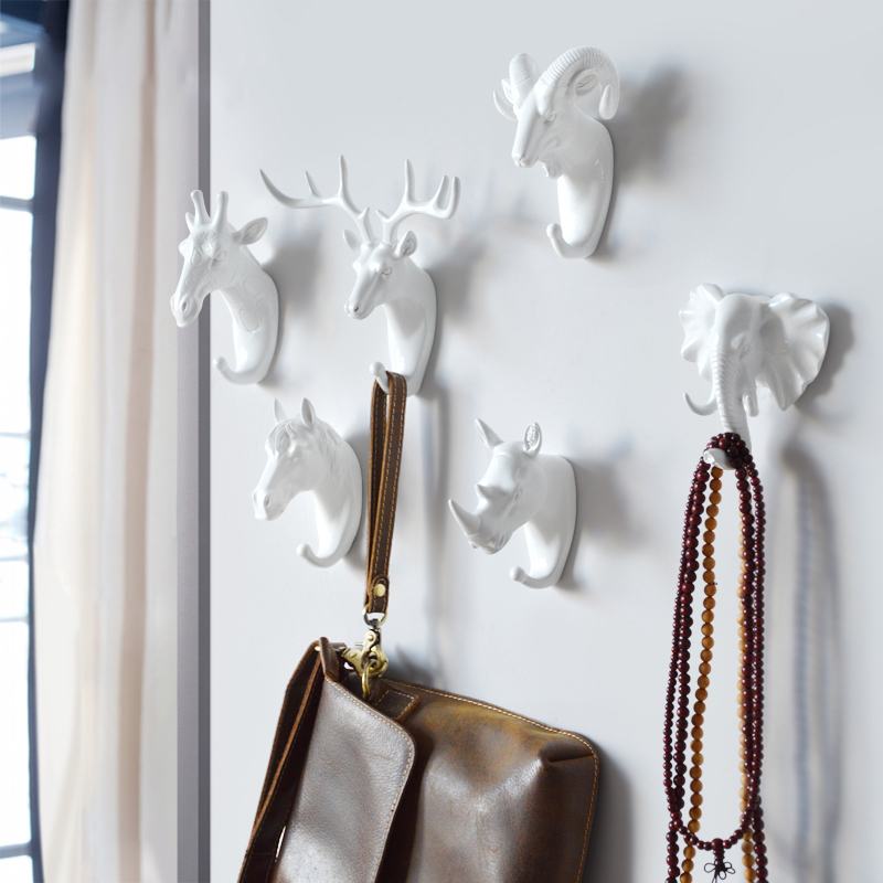 Hook Key Holder Multifunctional Animal Hook Wall Home American Clothes Hanger Powerful Seamless Sticky Decorative Hook