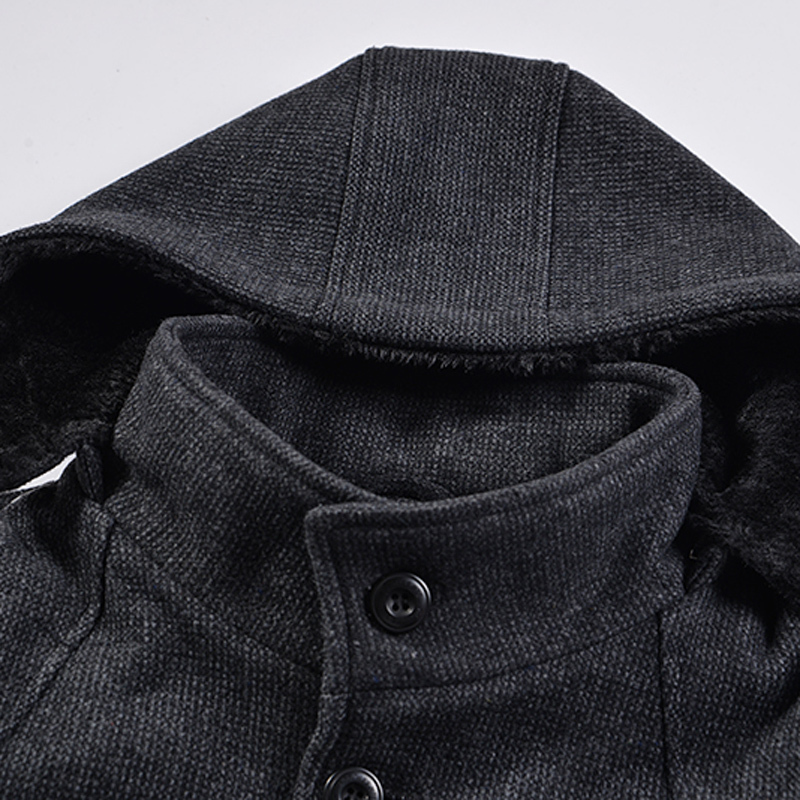 Men Coat Winter Plus Size Woolen Coat For Man Winter Jacket Men Grey Mens Coats Overcoats 5xl Casaco Masculino KJ245 S S