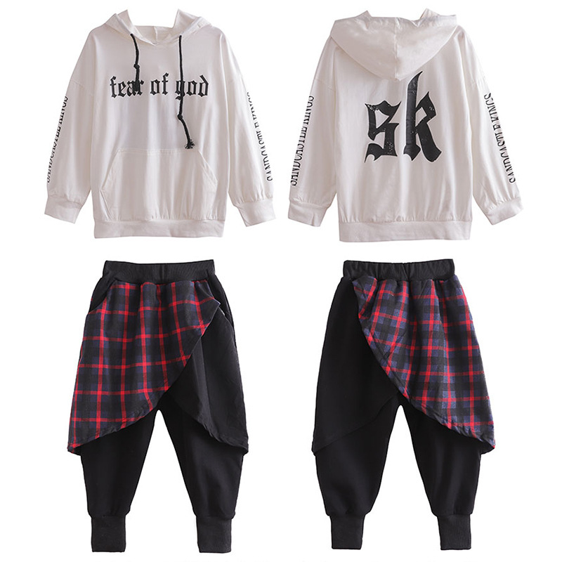 Girls Boys Hip Hop Hoodies Ballroom Dancing Costumes For Kids Jazz Dance Clothes Stage Wear Loose Pants Outfits Child Dancewear