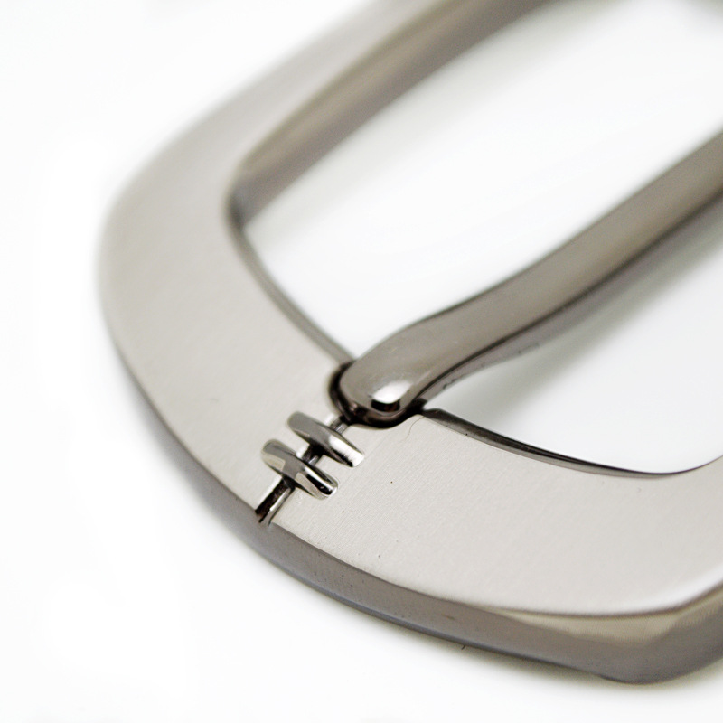 35/40mm Metal Belt Buckle Brushed Men's End bar Waistband Buckles For Belt Buckle Single Pin Belt Half Buckle Craft Jeans Belt