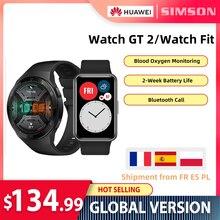Huawei watch gt2/watch fit versão global smart watch 1.39 tela amoled 14 dias vida útil 5atm rastreador de frequência cardíaca à prova d água