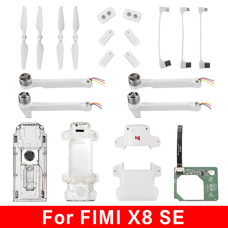 Original FIMI X8 SE 2020 Battery Motor Arm RC Drone Propeller Shell Landing Rubber Date Cable Spare Parts IMU ECS Compass Module