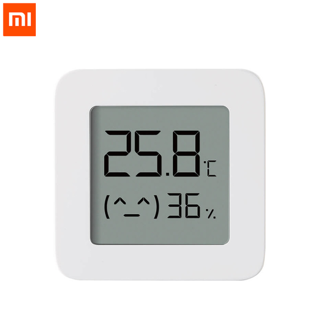 Xiaomi Mijia Temperature Humidity Sensor 2 Bluetooth Wireless Smart Digital LCD Screen Digital Moisture Meter For Smart Home