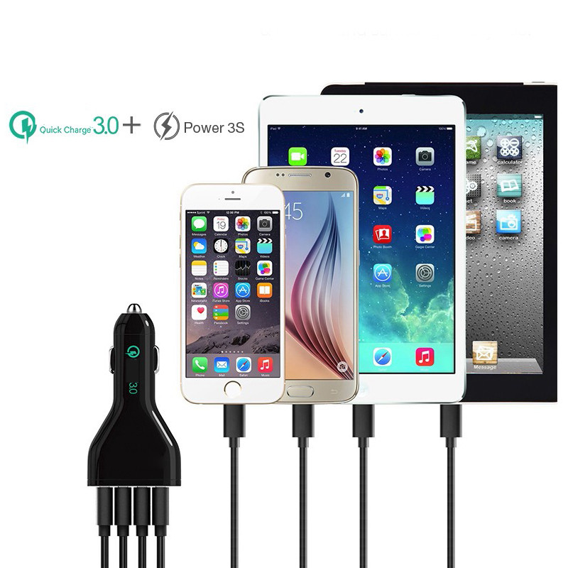 Car-Charger-4-USB-Quick-Charge-QC-3-0-Car-Charger-Mobile-Phone-Car-USB-Charger