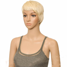 HAIRJOY Women Synthetic Hair Short Straight  Pixie Style  High Heat  Fiber