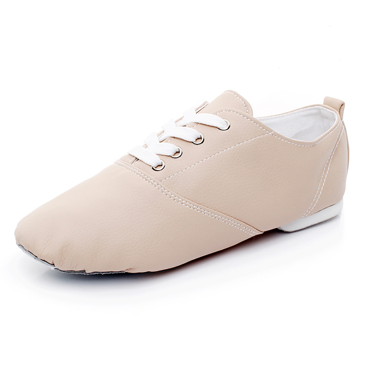 A Generation Of Fat Pu Jump Dance Shoe Low Top Jazz Shoes CHILDREN'S Dance Shoes Adult Soft-Sole Practice Shoes Foreign Trade Da