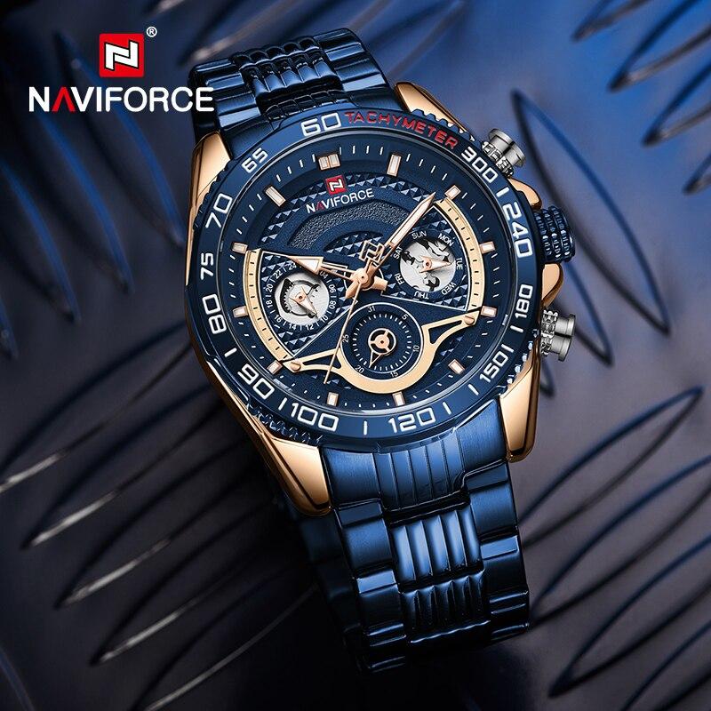 Оригинальные мужские часы naviforce роскошные повседневные спортивные