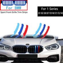 3 peças Para BMW Série 1 E81 E82 E88 E87 F20 F40 F21 F52 F40 118i 120i 2014-2020 M Motorsport Carro Grade Dianteira Guarnição Pára Tiras