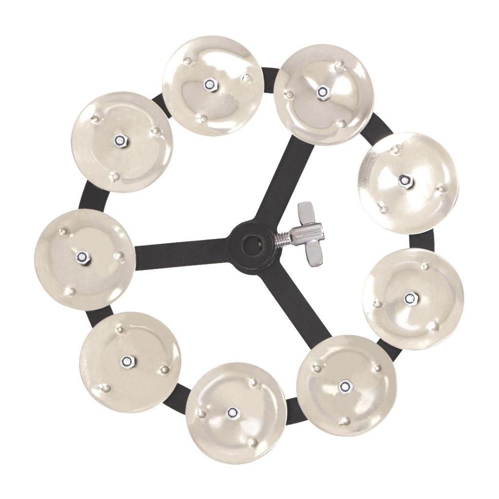 Hi-hat Tambourine With Single Row Steel Jingles Percussion Accessories