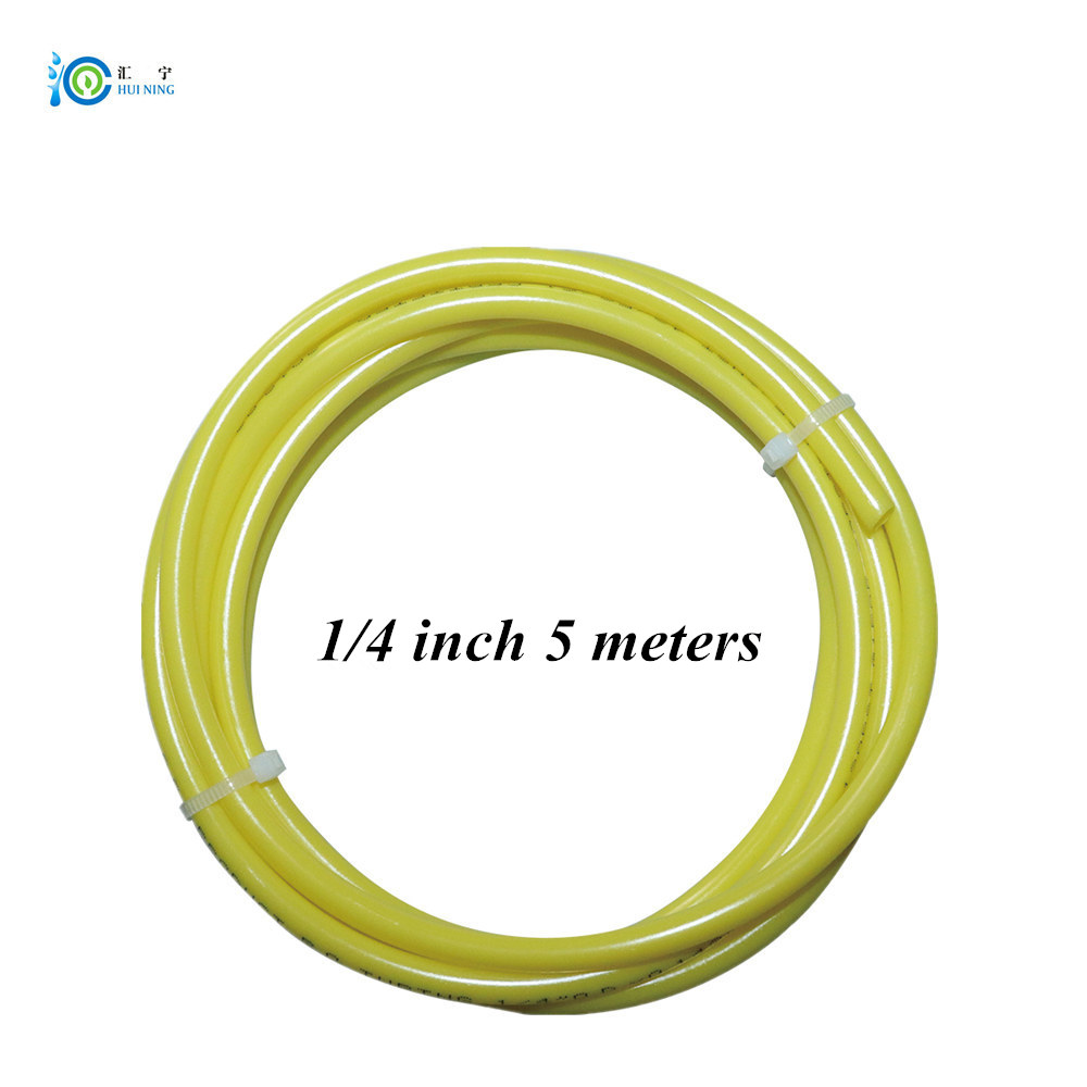 Water Tube OD 1/4 Inch 5 Meter Food Grade Yellow PE Pipe Water Pipe Water Filter Tube NSF Approved