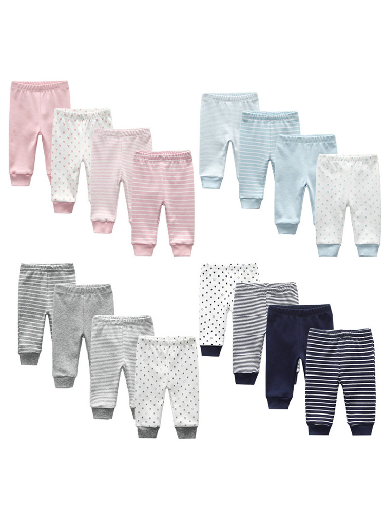 Girl Pants Trousers Baby 100%Cotton Cartoon Four-Seasons Soft 0-24M 3/4pcs/lot
