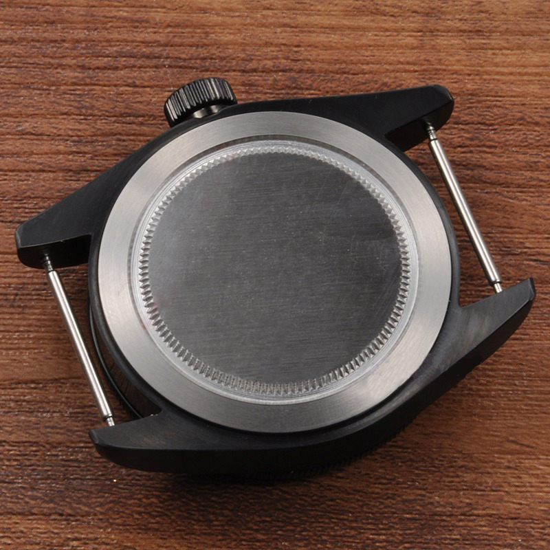 mecânico pvd preto revestido apto para nh35