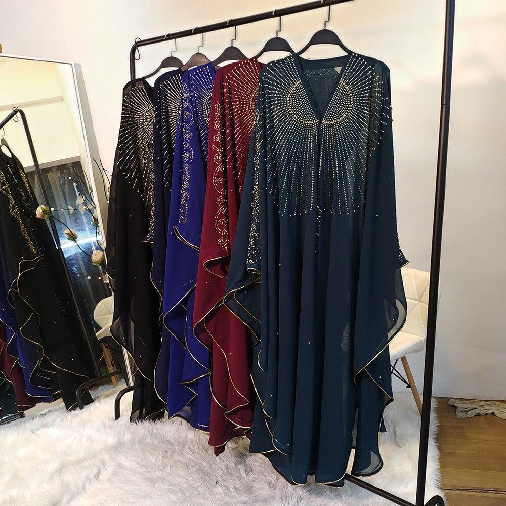 Eid Mubarak Dubai Abaya Kimono Muslim Hijab Dress Kaftan Abayas Islamic Clothing Ramadan Robe African Dresses For Women Caftan