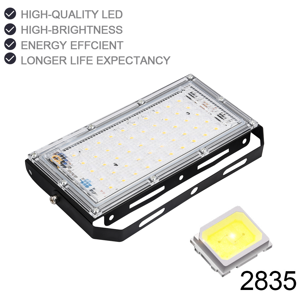 LED Flood Light 50W AC220V AC230V 240V Waterproof Ip66 Spotlight Outdoor Garden Lighting Floodlights Led Reflector Cast light in Floodlights from Lights Lighting