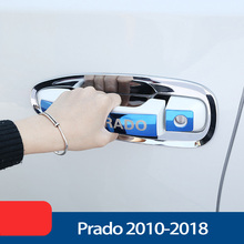 цена на 3 Colors Stainless Steel Door Handle Styling Cover Protection Trim For Toyota Land Cruiser Prado FJ150 Accessories 2010-2018