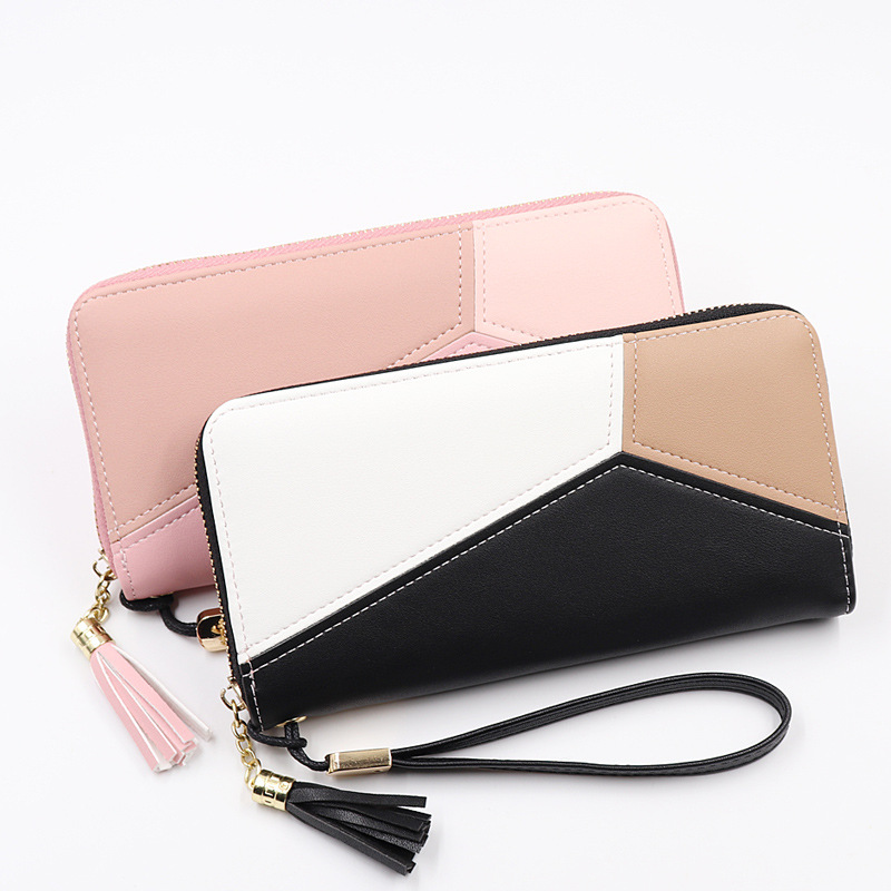 2019 Leather Women Wallet Tassel Long Wallets Fashion Wallet Female Girls Phone Pocket Purse Card Holder Long Clutch Coin Purse