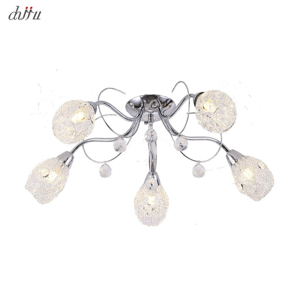 Nouveau led lustre pour salon chambre maison lustre 25W 5 E14 ampoule Led hanglight lustre cristal lustres lampe