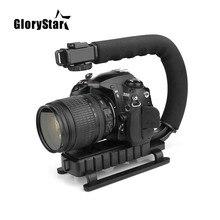 U C Shaped Holder Grip Video Handheld Stabilizer for DSLR Nikon Canon Sony Camera and Light Portable SLR Steadicam for Gopro U