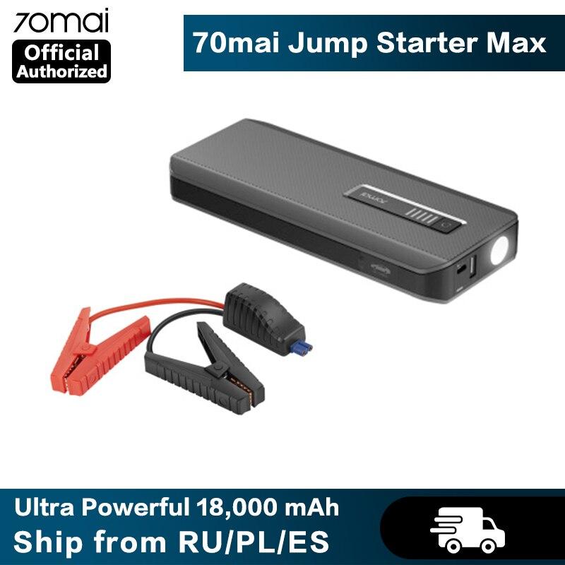 70mai Car Jump Starter Max Power Bank 18000mah Portable Car Battery Charger 12V Auto Buster Emergency
