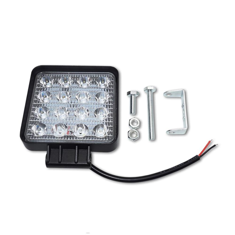 Automotive led work light 48W wild car light engineering light spotlight square bright practical lights