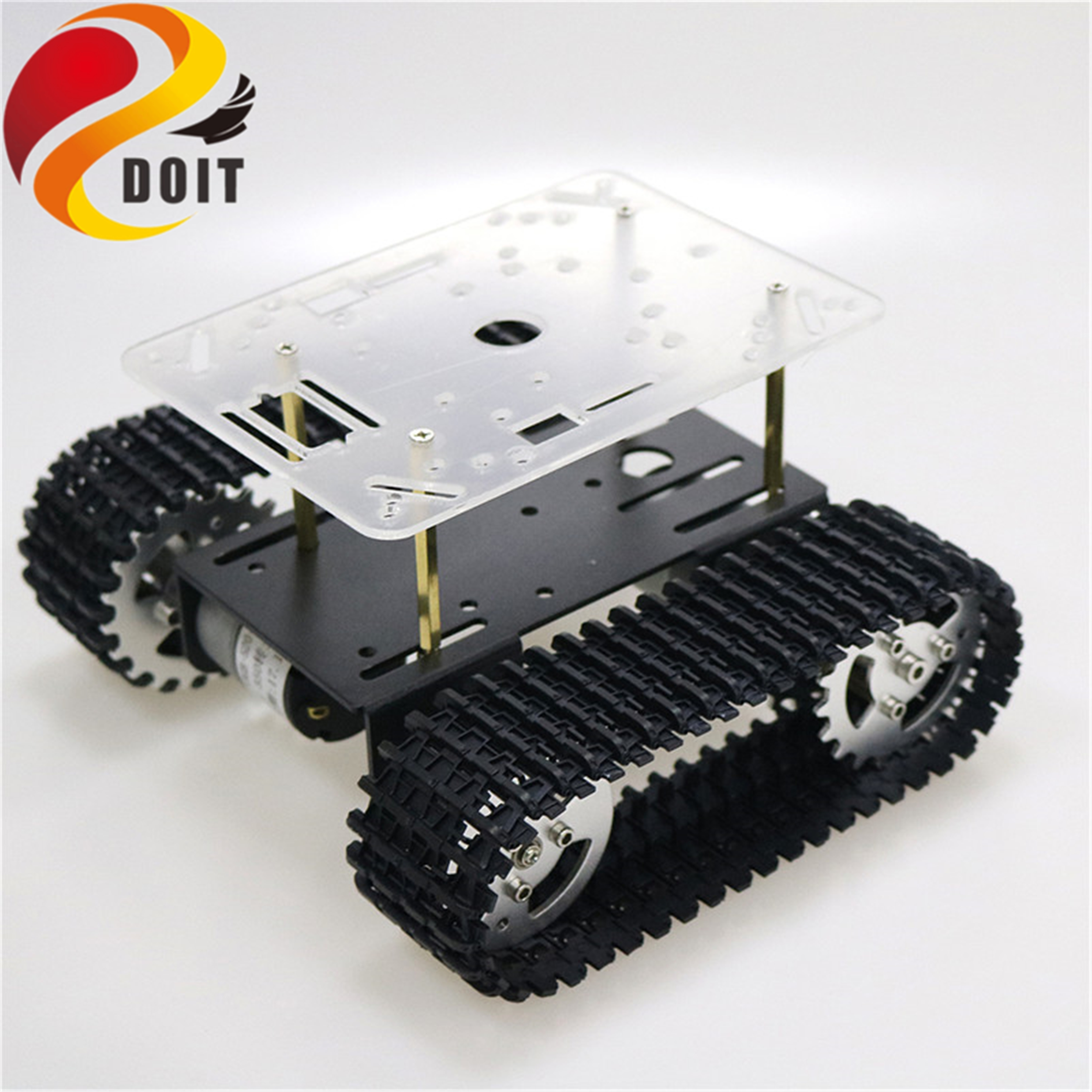Robot Tank Chassis Suspension System Tracked Vehicle for Arduino Robotics DIY