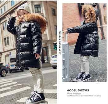 Girl's down fashion hooded jacket kid's black warm down long coat - DISCOUNT ITEM  0% OFF All Category