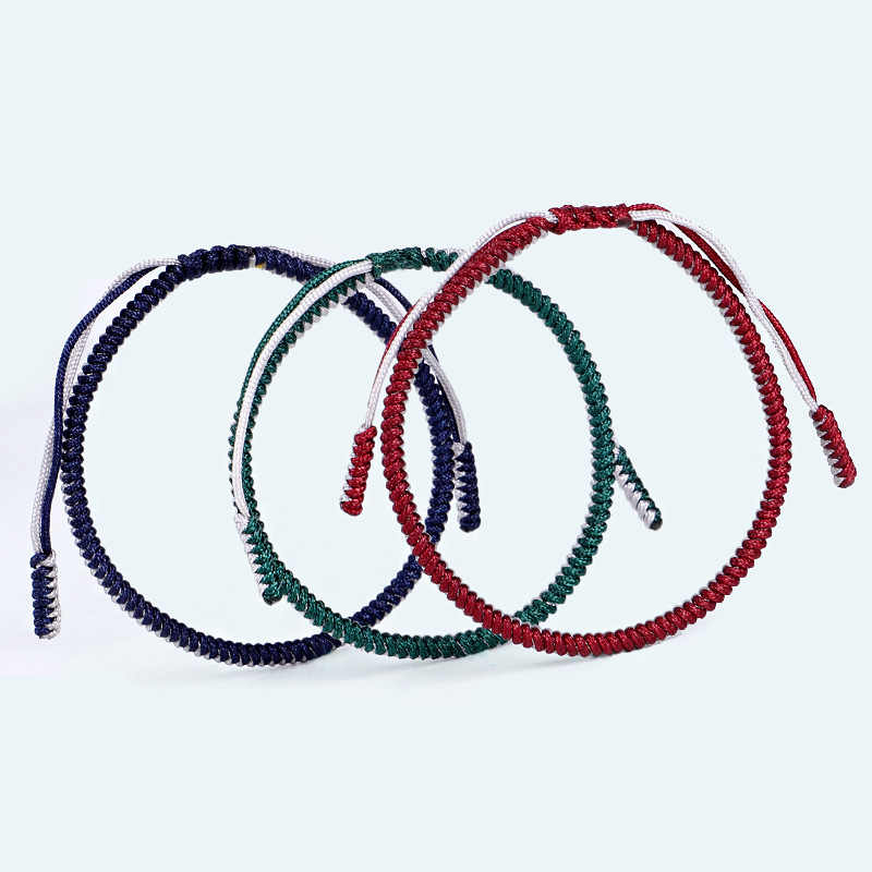 Fashion Tangan Anyaman Simpul Tali Gelang Antik Adjustband Anyaman String Braclet untuk Pria dan Wanita Gelang Beruntung Bungkus Perhiasan Homme