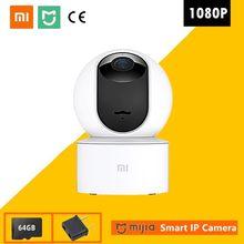 Xiaomi original 360 graus mijia 1080p câmera ip fov visão noturna 2.4ghz wi fi xiaomi casa mi kit de segurança do bebê monitor segurança