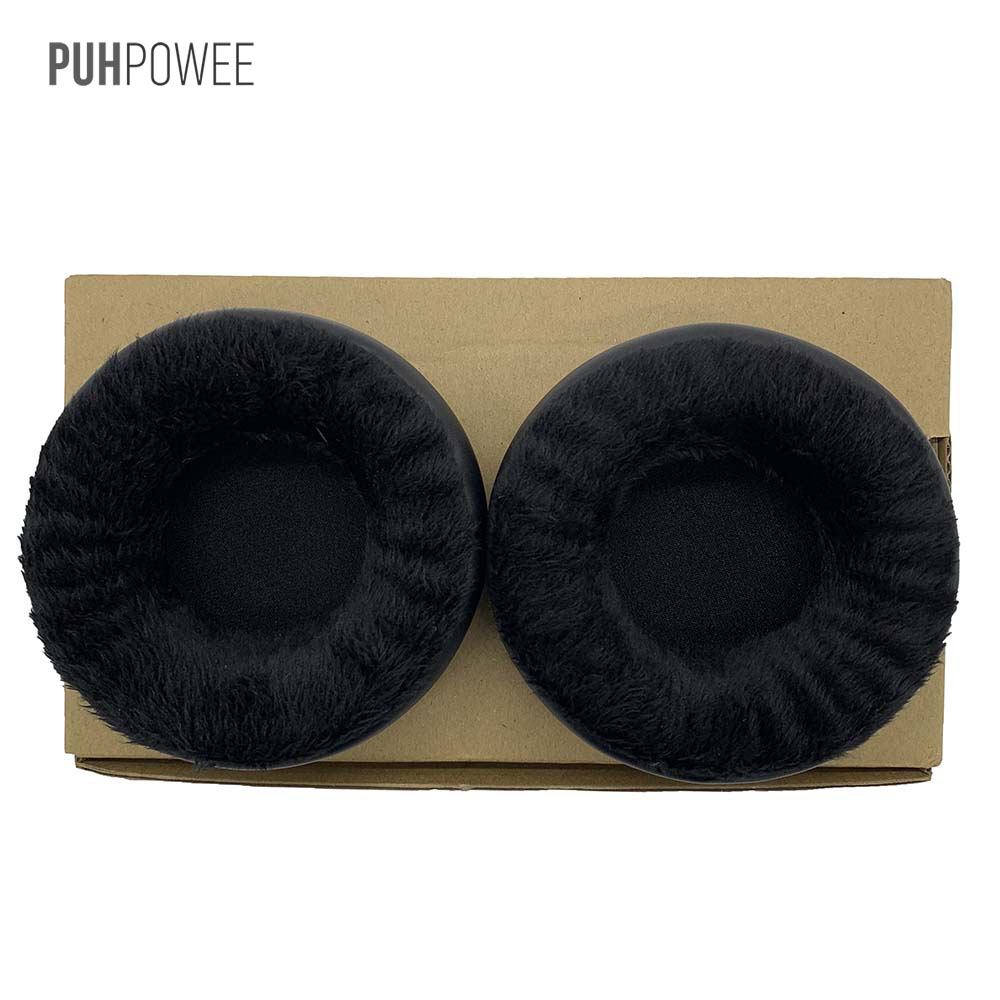 PUHPOWEE Replacement Earpads for Superlux <font><b>HD660</b></font> HD330 HD669 Headphones Velvet Ear Pads Cushion Cover Pillow Headset image