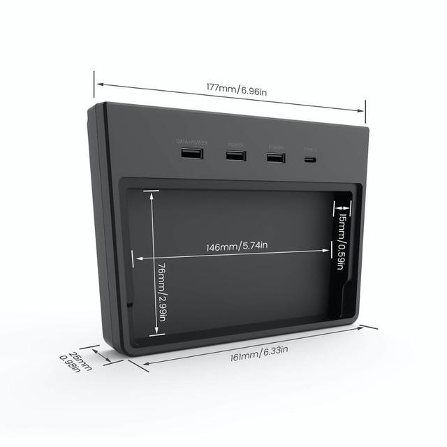 USB Hub 5 Ports SSD Disk Sticks Center Console Kit USB HUB Memory Storage Box Accessorie