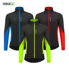 Wosawe Зимняя Теплая Флисовая велосипедная куртка для велосипеда