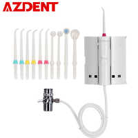 New 10 Tips Switch Faucet Oral Water Irrigator Pressure Portable Dental Flosser + Tooth Brush Head Teeth Tongue Cleaner Flossing