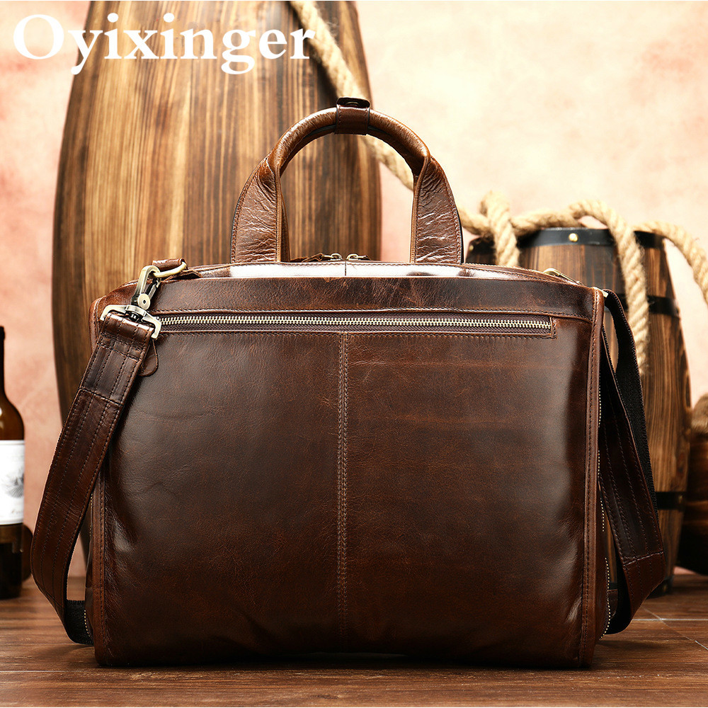 Luxury Brand Portfolio Man Briefcase Genuine Leather 14