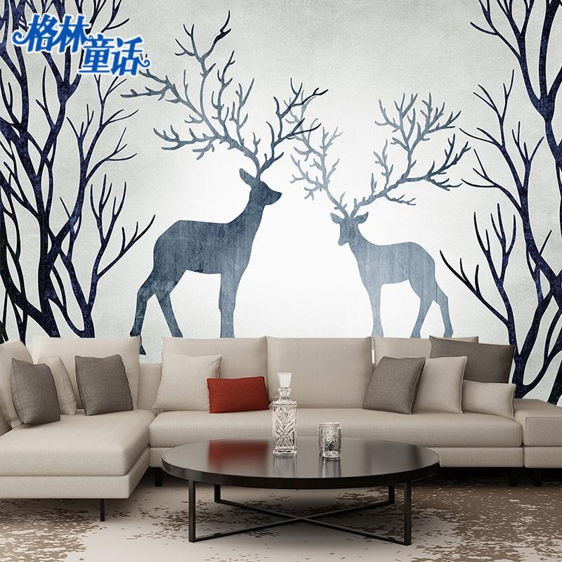 Scandinavian Minimalist Beautiful Wallpaper Mural Art Forest Wall Cloth Customizable Large Mural Background Wallpaper Wall Cloth