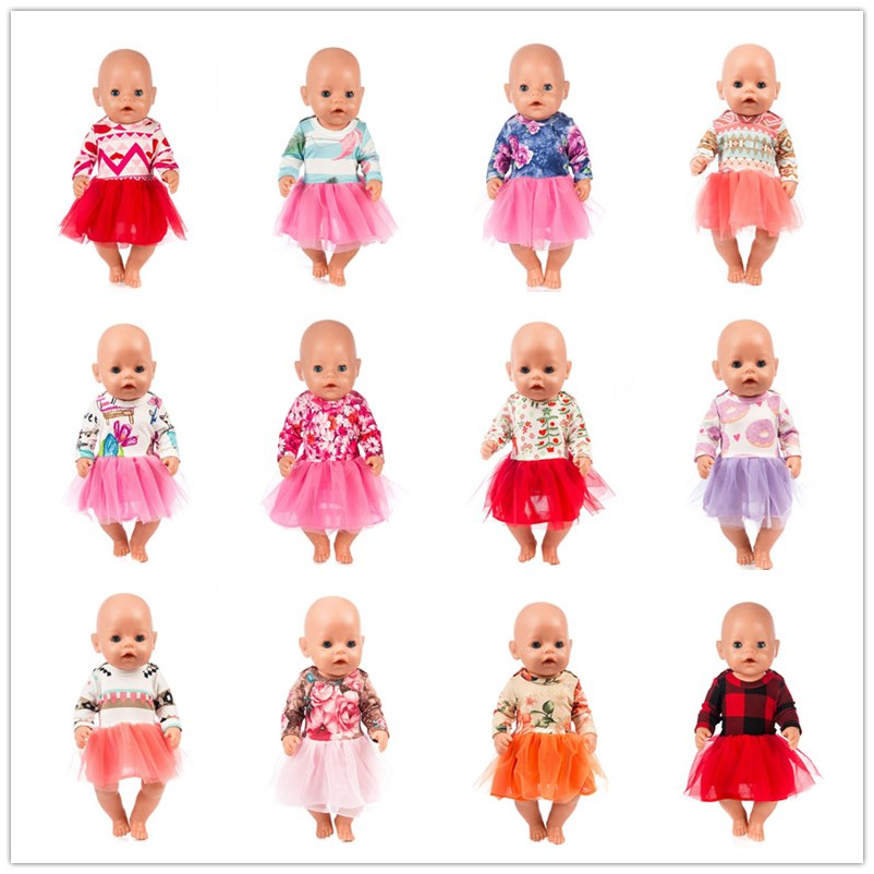 Wholesale10pcs/lot Sport Dress Doll Clothes Fit 17 Inch 43cm Doll Clothes Born Baby Doll Clothes For Baby Birthday Festival Gift
