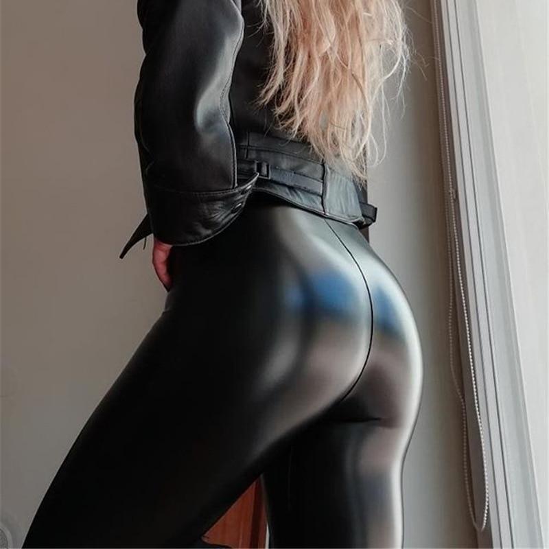 Спандекс; ПУ искусственная кожа; Блестящие модные леггинсы для девочек принт из мультфильма, сексуальная женская одежда Джеггинсы женская ...