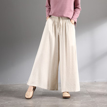 Women summer thin section comfortable cotton and linen skirt