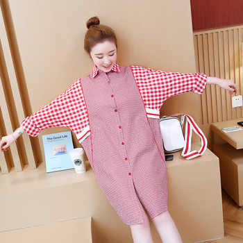 Loose Maternity Blouses Shirts Long Sleeve Blouse Clothes for Casual Pregnant Women Lattice Blouses Pregnancy Clothing Plus Size summer striped maternity blouses shirts o neck tops blouse clothes for casual ol pregnant women pregnancy clothing plus size