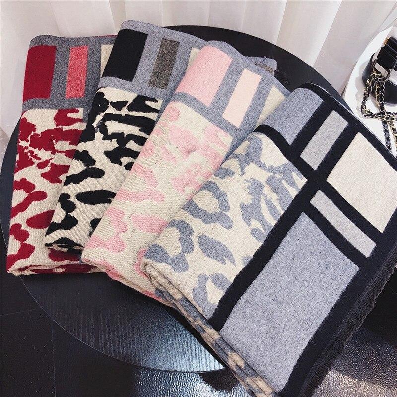 2019 зимний модный кашемировый шарф для женщин леопардовый платок с принтом теплые шарфы из пашмины женские шали и шарфы