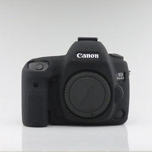 Image 3 - سيليكون درع حالة الجلد الجسم غطاء حامي مضاد للانزلاق الملمس تصميم لكانون EOS 5D مارك الرابع 4 5D4 DSLR كاميرا فقط