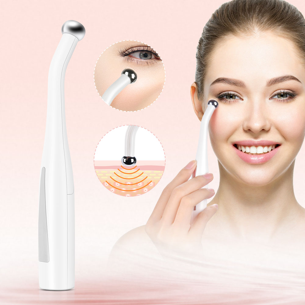 2 in 1 Electric Eye Massager Anti Aging Wrinkle Eye Patch Relief Micro-current Massage Negative Ion Importing Eyes Care Device