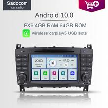PX6 IPS 2 din Android 10 0 samochodowy odtwarzacz DVD odtwarzacz 6 rdzeń 64GB ROM 4GB RAM radio samochodowe GDS autoradio dla Benz W203 W209 W219 2004 #8211 2011 tanie tanio Sadocom CN (pochodzenie) podwójne złącze DIN 4*45W System operacyjny Android 10 0 DVD-R RW DVD-RAM VIDEO CD JPEG Plastic Steel